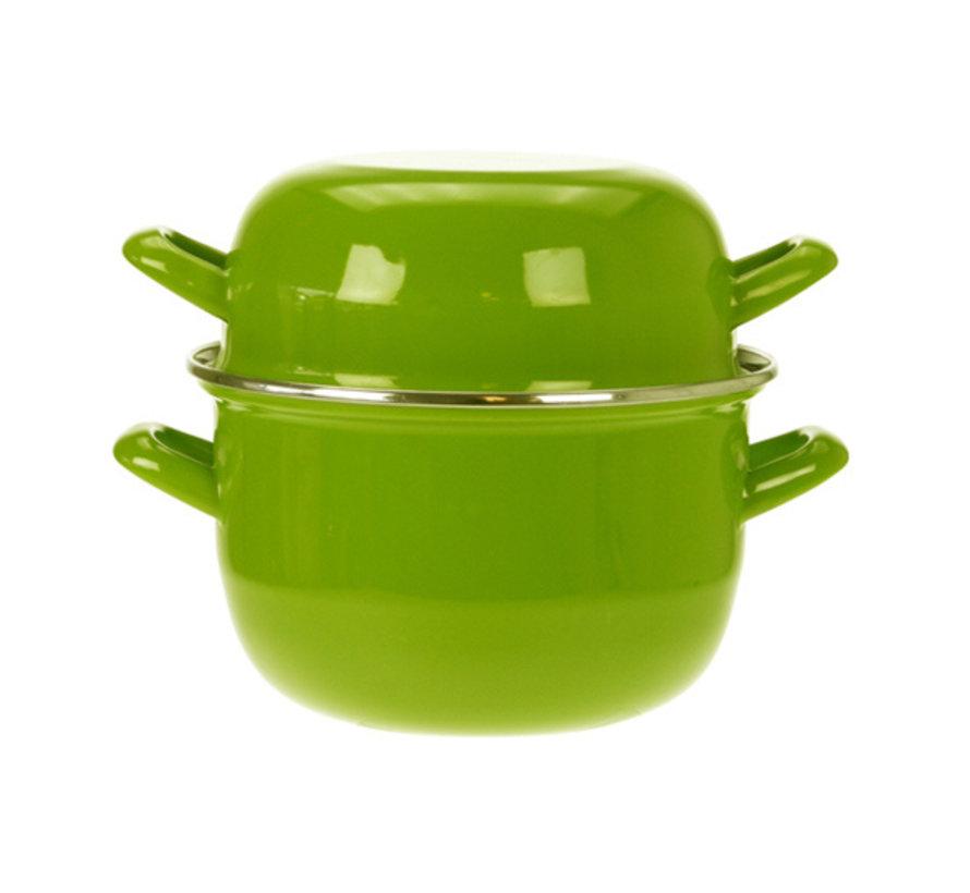 Cosy & Trendy Horeca mosselpot 1,2kg groen 2,8l 18cm, 1 stuk