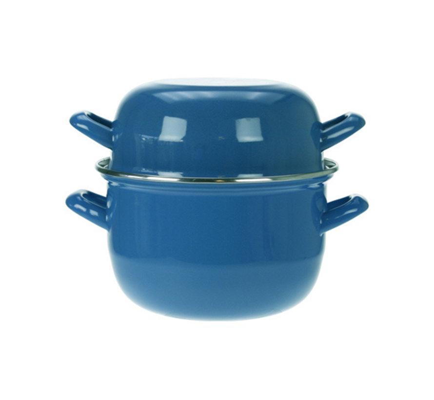 Cosy & Trendy Horeca mosselpot1,2kg blauw 2,8l 18cm, 1 stuk