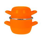 Cosy & Trendy Cosy & Trendy Mosselpot oranje d12cm, 1 stuk