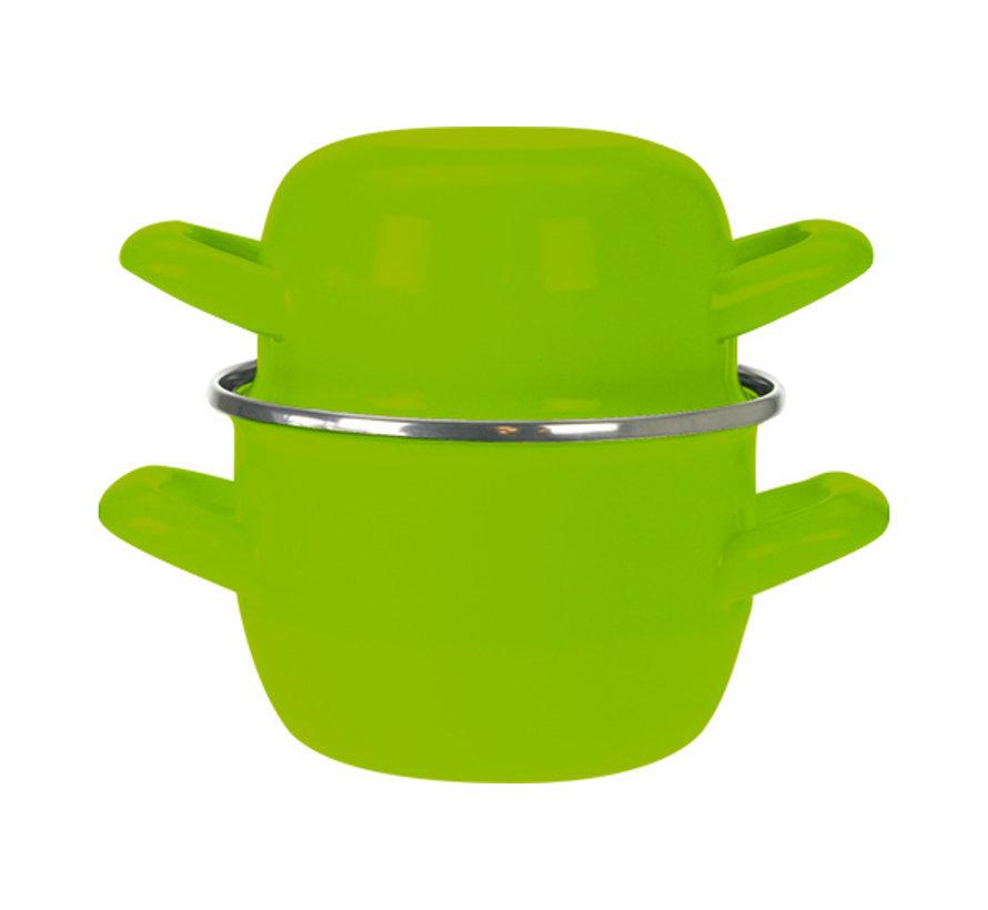 Cosy & Trendy Horeca mosselpot d12cm groen-0,5kg-0,9l, 1 stuk