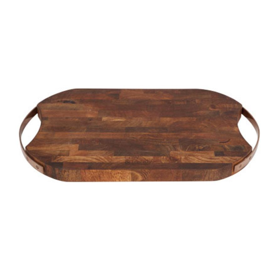 Cosy & Trendy Snijplank mangohout rh-rond, 1 stuk