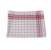 Cosy & Trendy Cosy & Trendy Keukenhanddoek set6 grove ruit rood-wit, 6 stuks