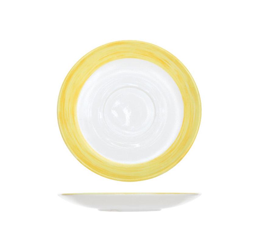 Arcoroc Brush ondertas geel 14cm, 6 stuks