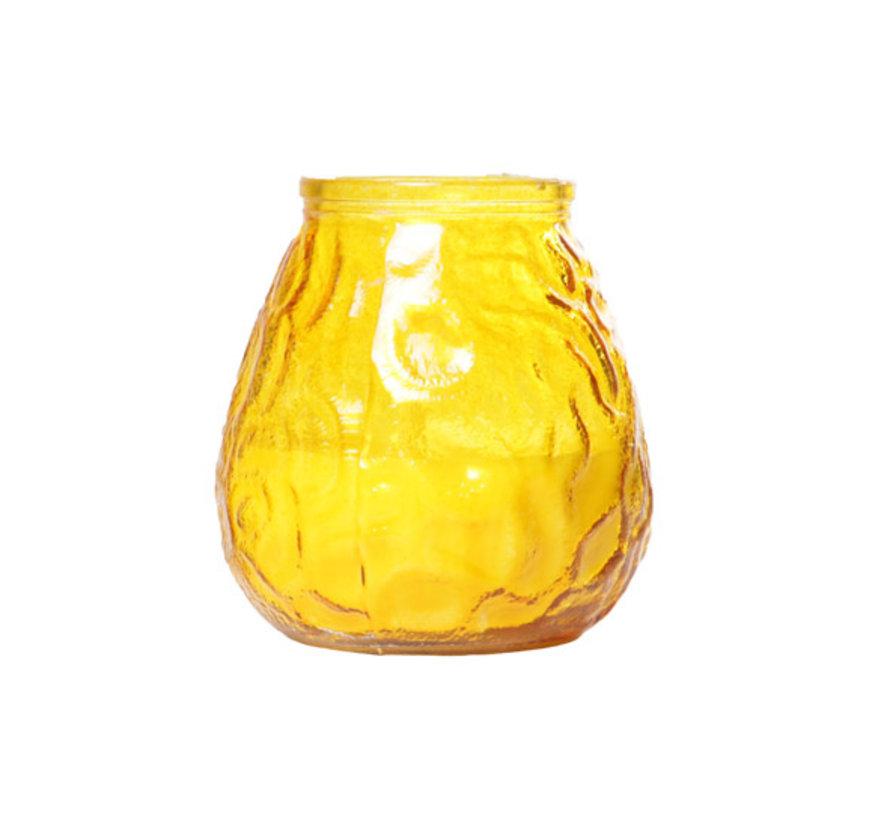 Cosy & Trendy lowboy geel d10xh10,5cm, 6 maal 1 stuk