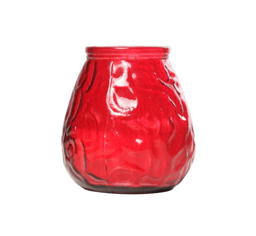 Cosy & Trendy lowboy rood d10xh10,5cm, 6 maal 1 stuk