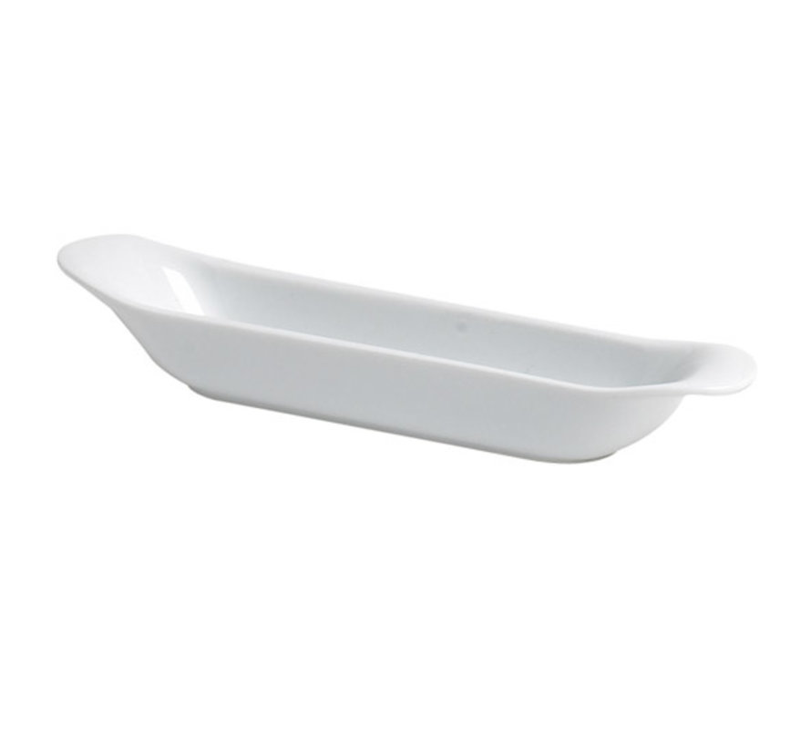 Cosy & Trendy Mini olijfschaaltje wit 4,5x21,5cm, 6 maal 1 stuk
