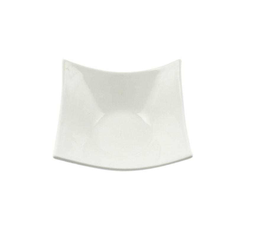 Cosy & Trendy Square schaal wit 12x12cm vierkantig, 12 maal 1 stuk