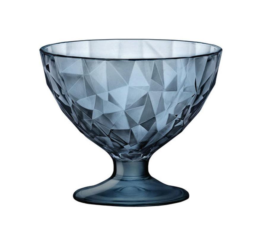 Bormioli Rocco Diamond junior ijscoupe 22 cl blauw, 12 maal 1 stuk