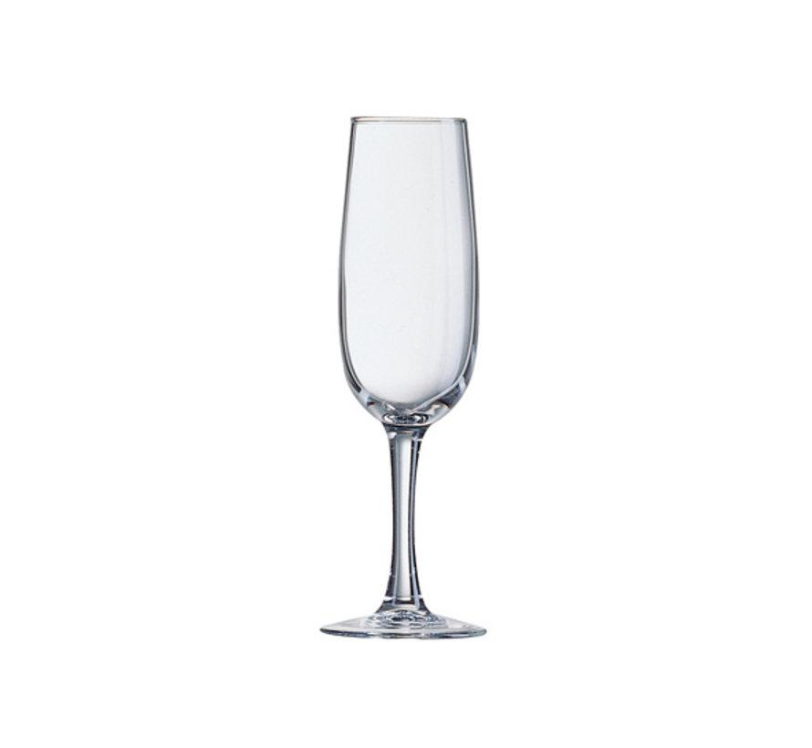 Arcoroc Elisa champagneglas 17cl, 6 stuks