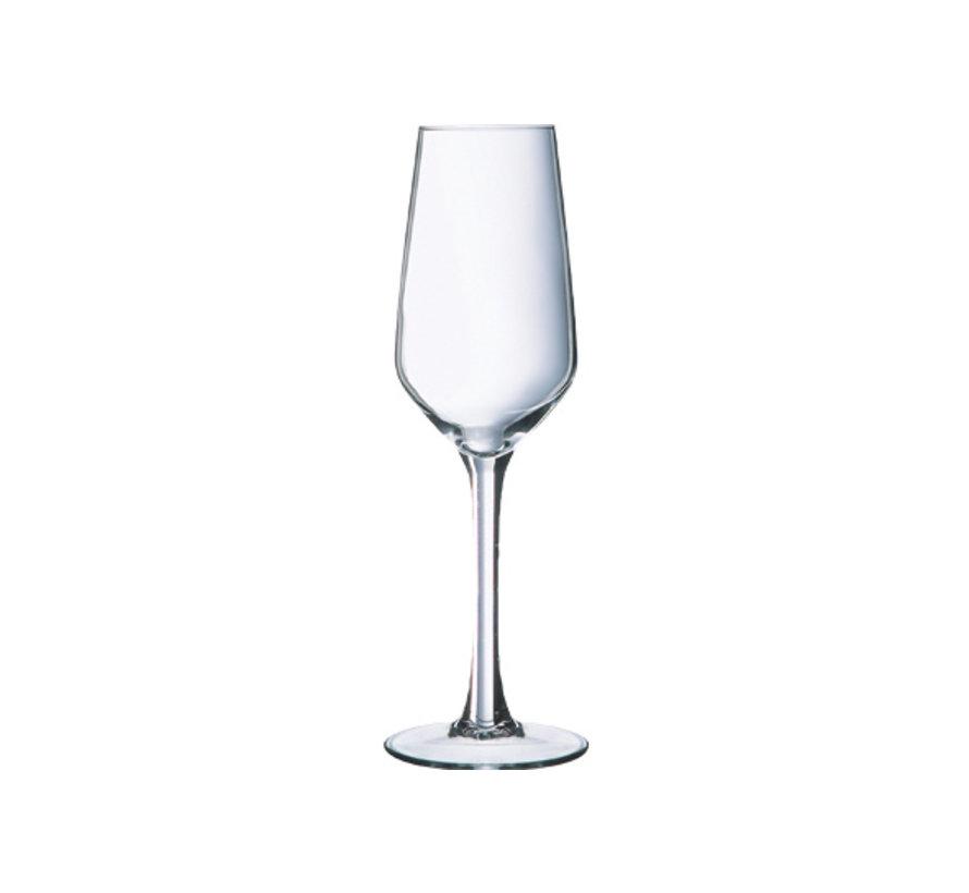 Arcoroc Lineal champagneglas 16cl, 6 stuks