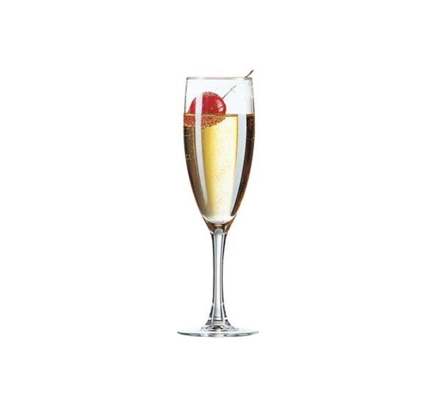 Arcoroc Princesa champagneglas 15cl, 6 stuks
