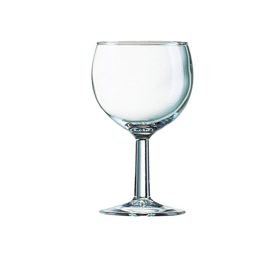 Arcoroc Ballon wijnglas 16cl met maatstreep 10cl, 12 maal 1 stuk