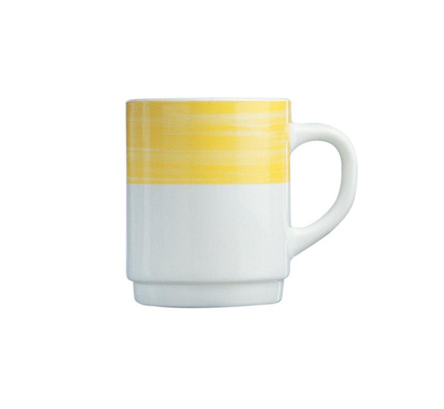 Arcoroc Brush mok geel 25cl, 6 stuks