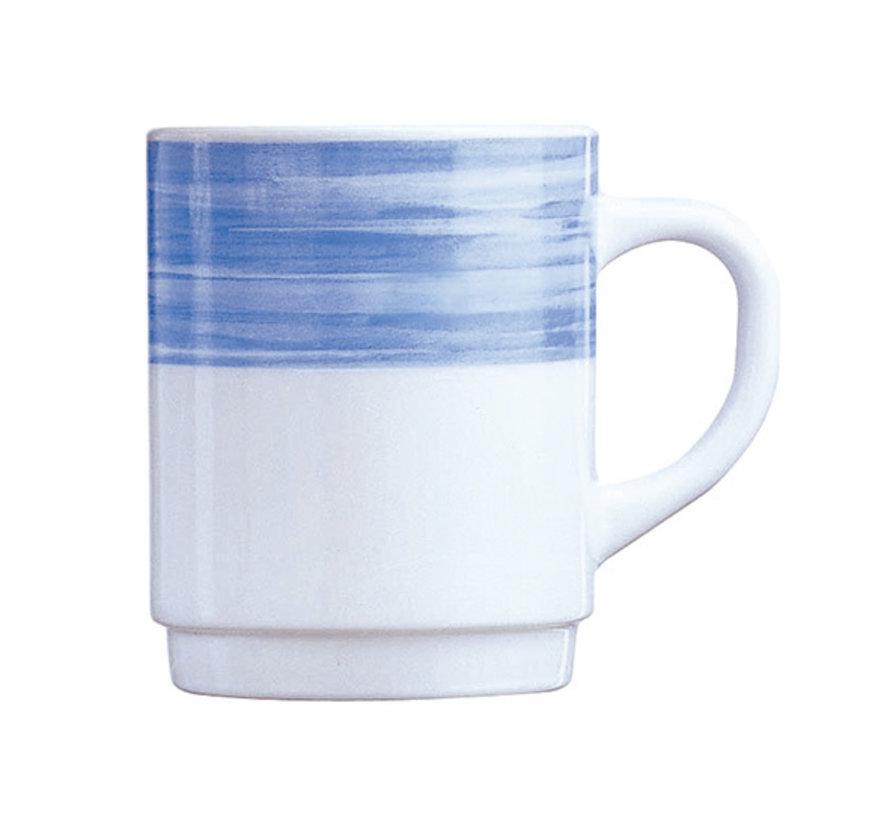 Arcoroc Brush mok blauw 25cl, 6 stuks