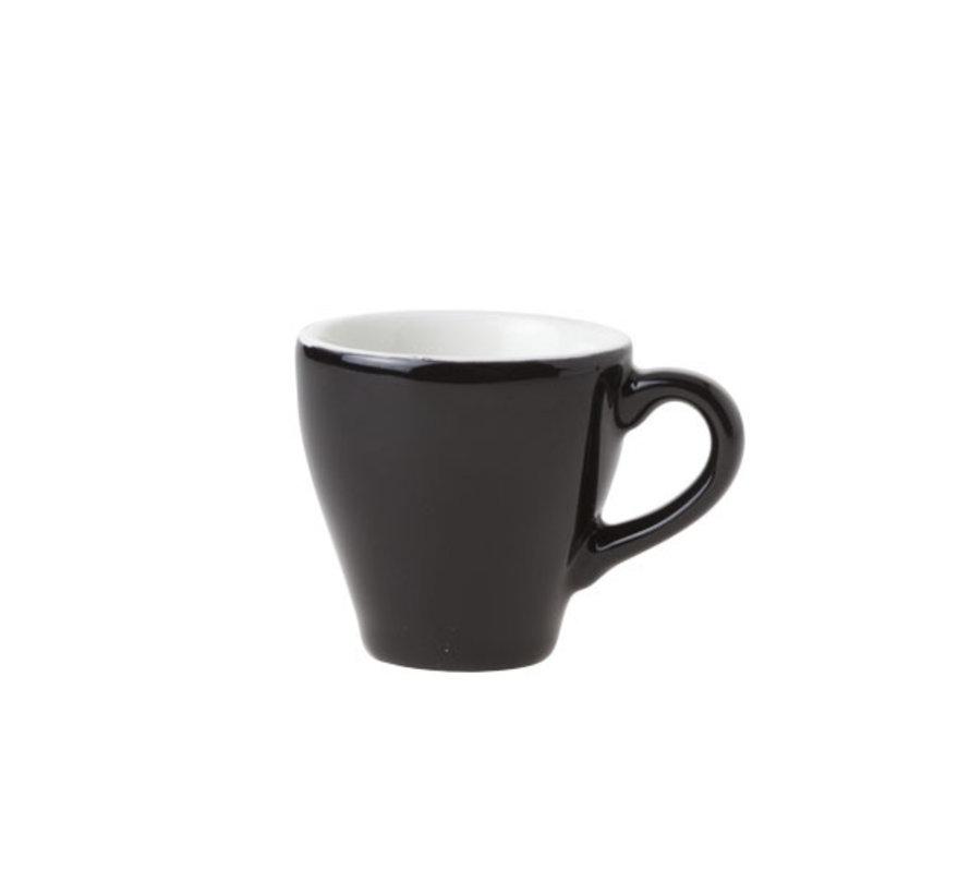 Cosy & Trendy Barista zwart kop 6,3x6,2cm - 7cl, 12 maal 1 stuk
