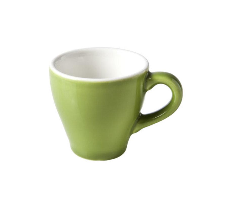 Cosy & Trendy Barista groene kop 6,3x6,2cm - 7cl, 12 maal 1 stuk