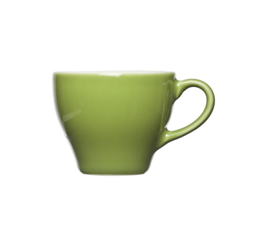 Cosy & Trendy Barista groene kop 8x6,5cm - 15cl, 12 maal 1 stuk