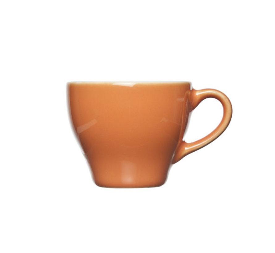Cosy & Trendy Barista oranje kop 8x6,5cm - 15cl, 12 maal 1 stuk