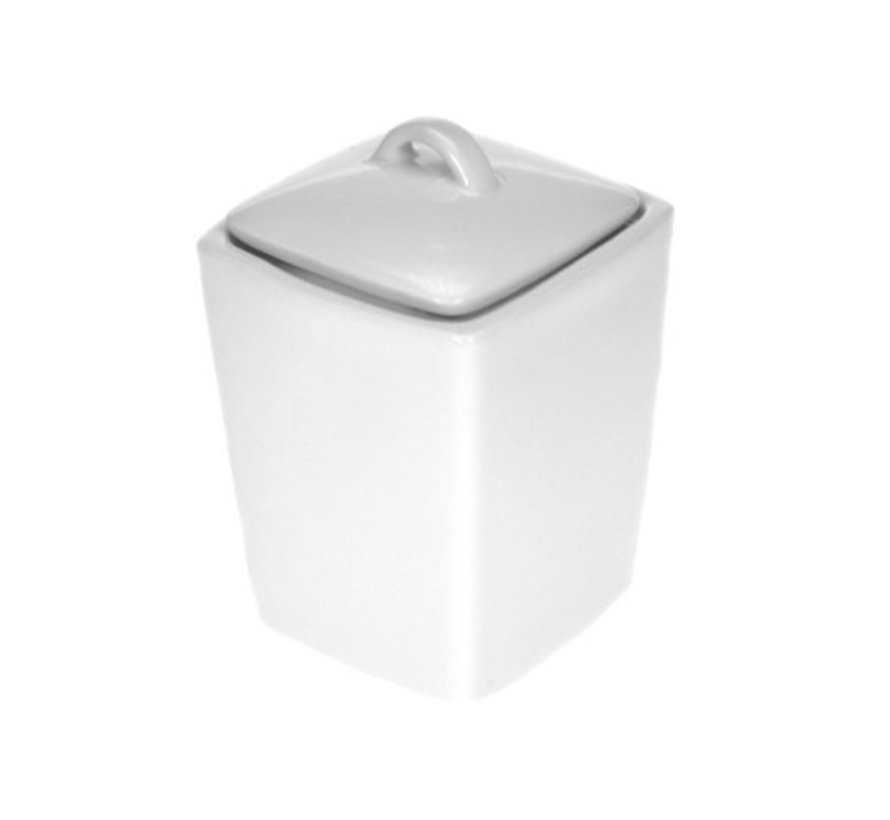 Cosy & Trendy Napoli witte suikerpot met deksel 11xh6,, 6 maal 1 stuk
