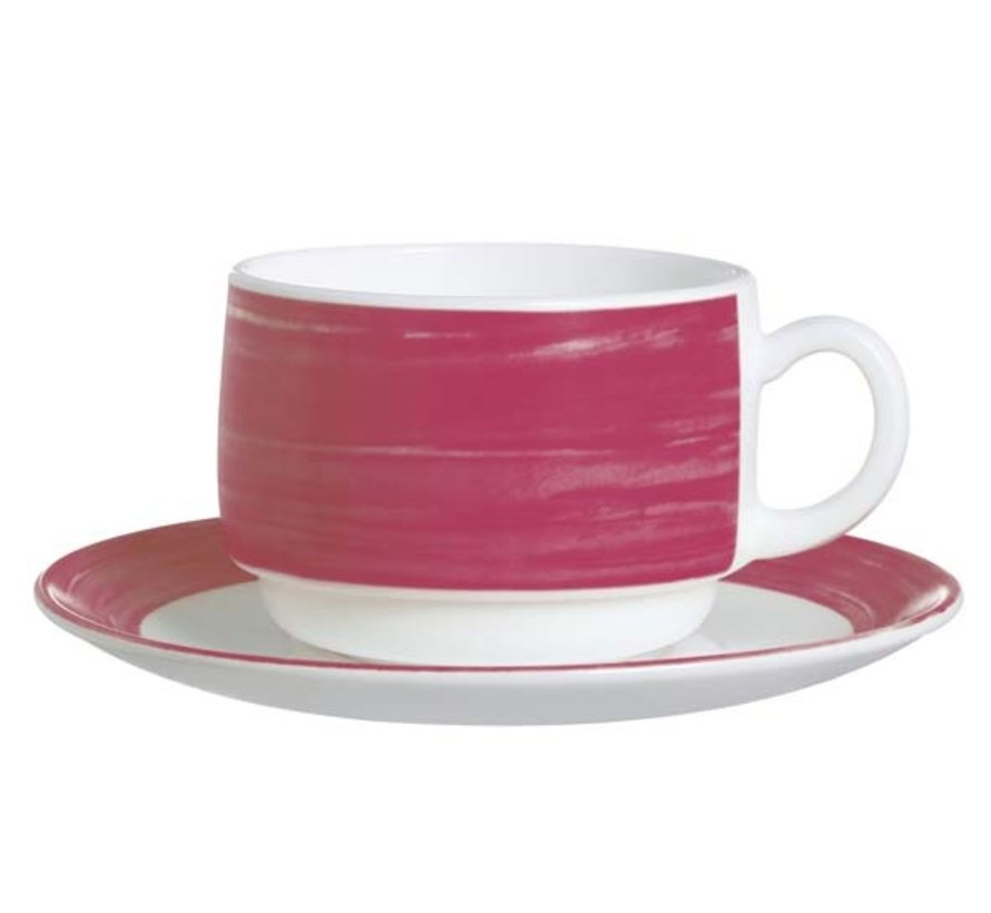 Arcoroc Brush rood/roze schotel 140, 6 maal 1 stuk