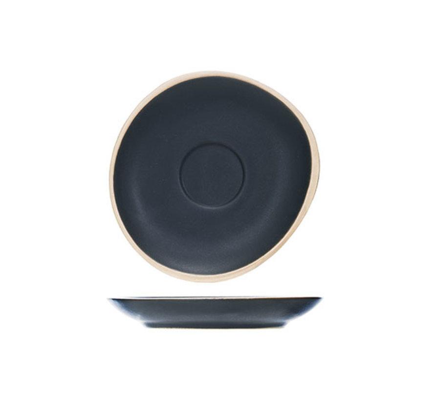 Cosy & Trendy Galloway black espresso schotel 12cm, 6 maal 1 stuk