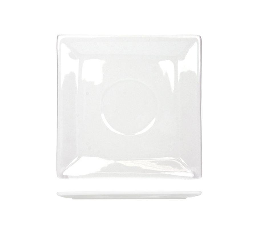 Cosy & Trendy Napoli witte schotel 12,8x12,8cm, 6 maal 1 stuk