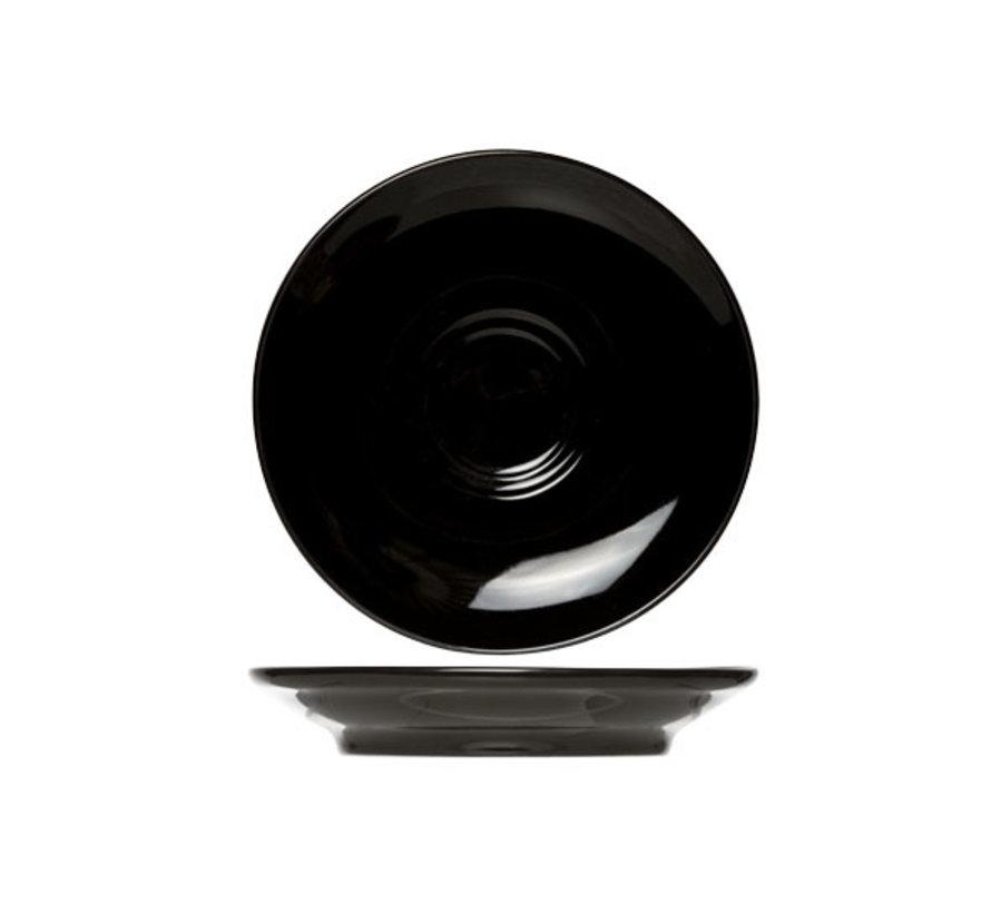 Cosy & Trendy Barista zwarte schotel 16cm, 12 maal 1 stuk