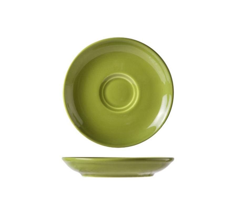 Cosy & Trendy Barista groene schotel 13cm, 12 maal 1 stuk