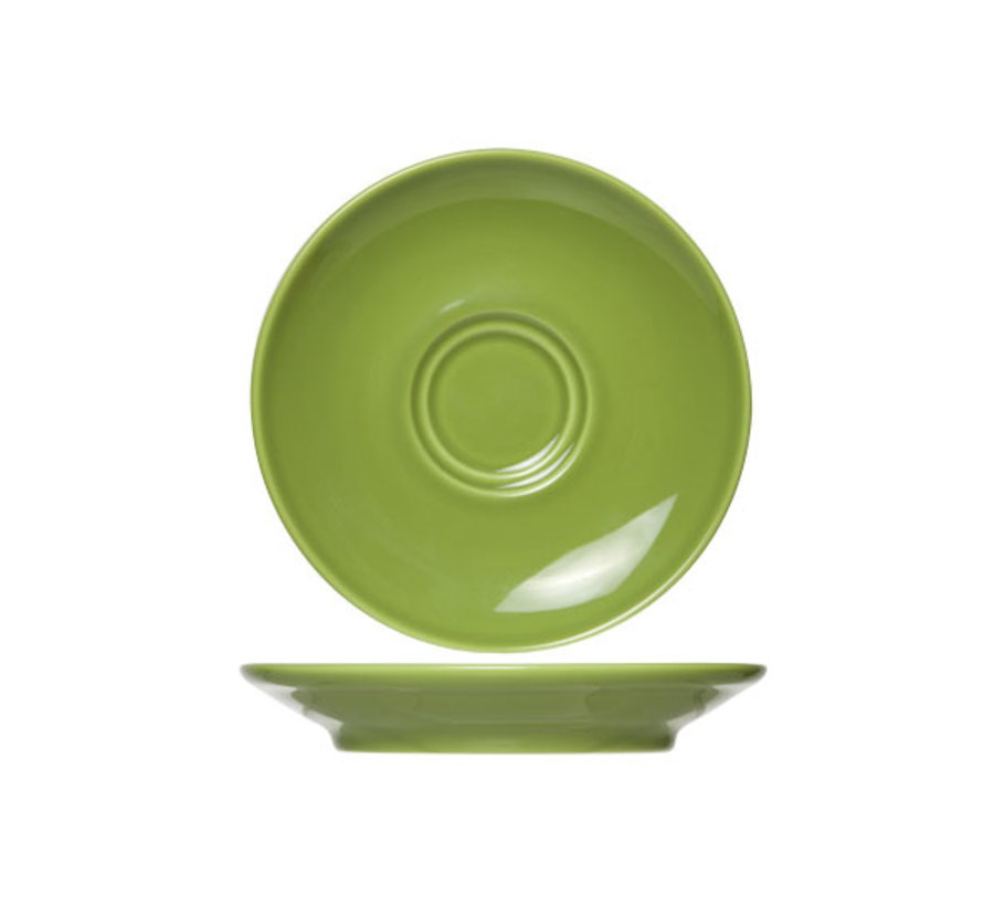 Cosy & Trendy Barista groene schotel 16cm, 12 maal 1 stuk