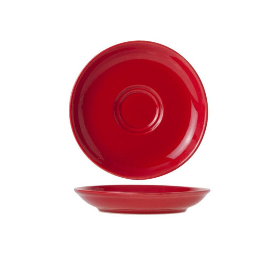 Cosy & Trendy Barista rode schotel 13cm, 12 maal 1 stuk