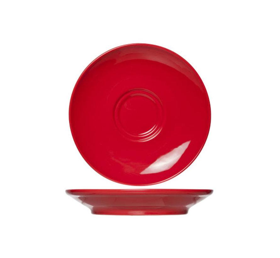 Cosy & Trendy Barista rode schotel 16cm, 12 maal 1 stuk