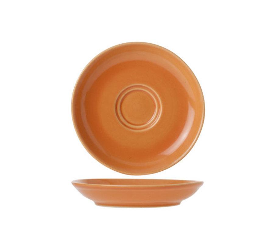 Cosy & Trendy Barista oranje schotel 13cm, 12 maal 1 stuk
