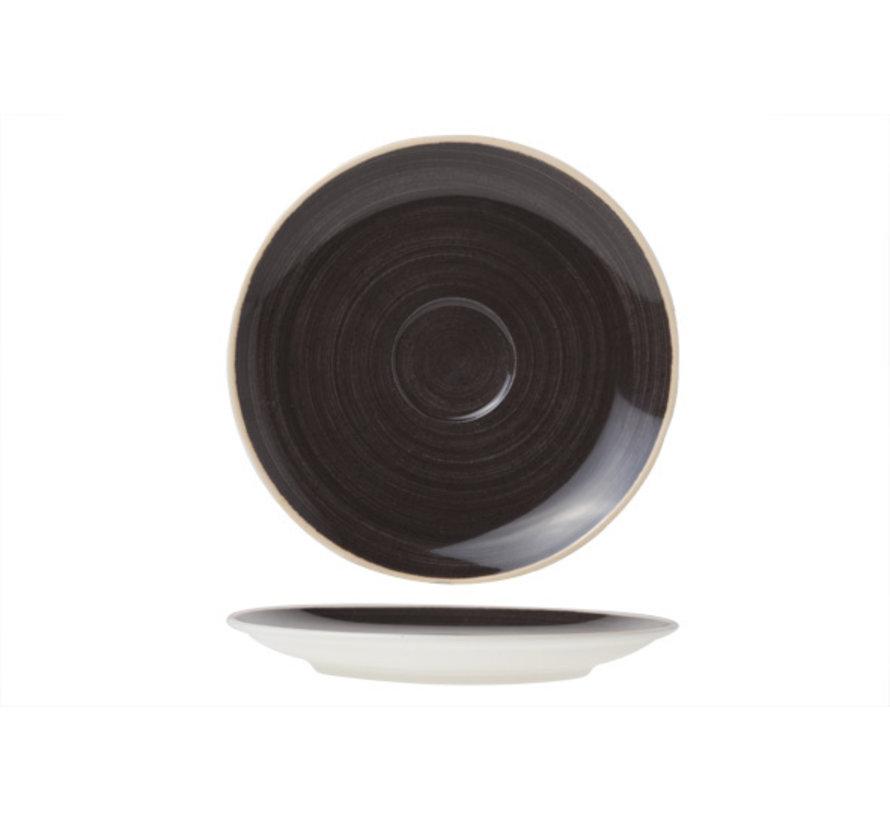 Cosy & Trendy Twister carbon schotel 16cm, 12 maal 1 stuk