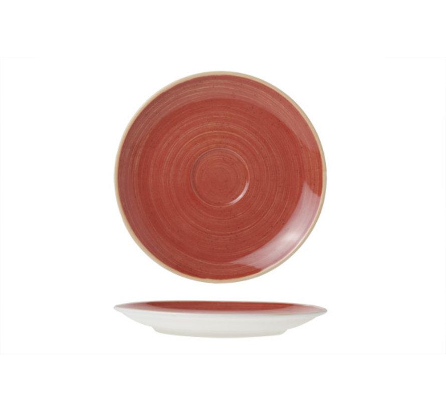 Cosy & Trendy Twister rode schotel 16cm, 12 maal 1 stuk