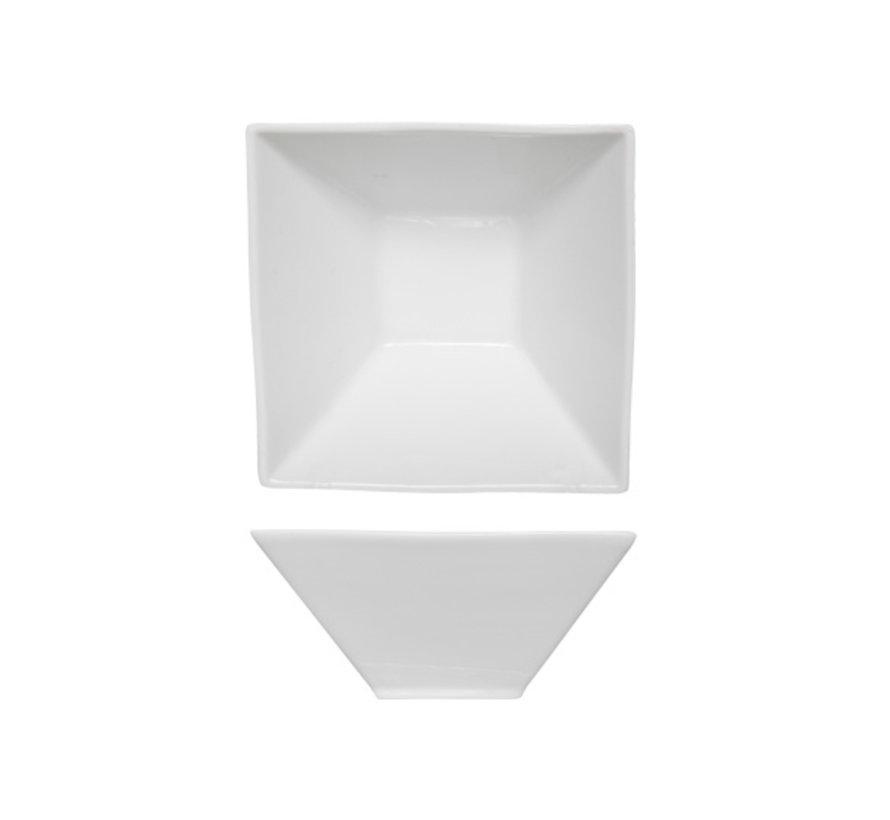 Cosy & Trendy Napoli witte soepbol 15,3x15,3x7cm vierkant, 6 maal 1 stuk