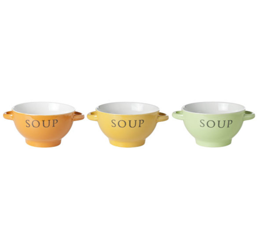 Cosy & Trendy Soepkop 'soup' 14x8cm, 6 maal 3 stuks