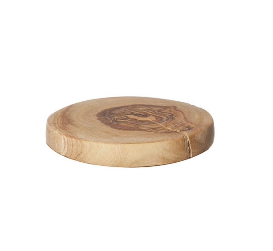Cosy & Trendy Onderzetters d10cm olijfhout, 20 maal 1 stuk