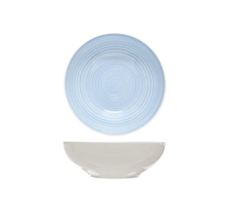 Cosy & Trendy Pastabord blue d22xh7,5cm, 4 maal 1 stuk