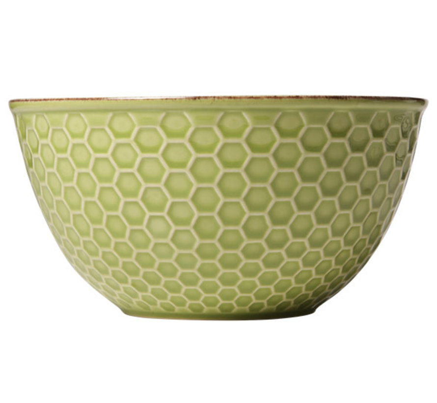 Cosy & Trendy Mistral green bol d16xh8,3cm, 6 maal 1 stuk