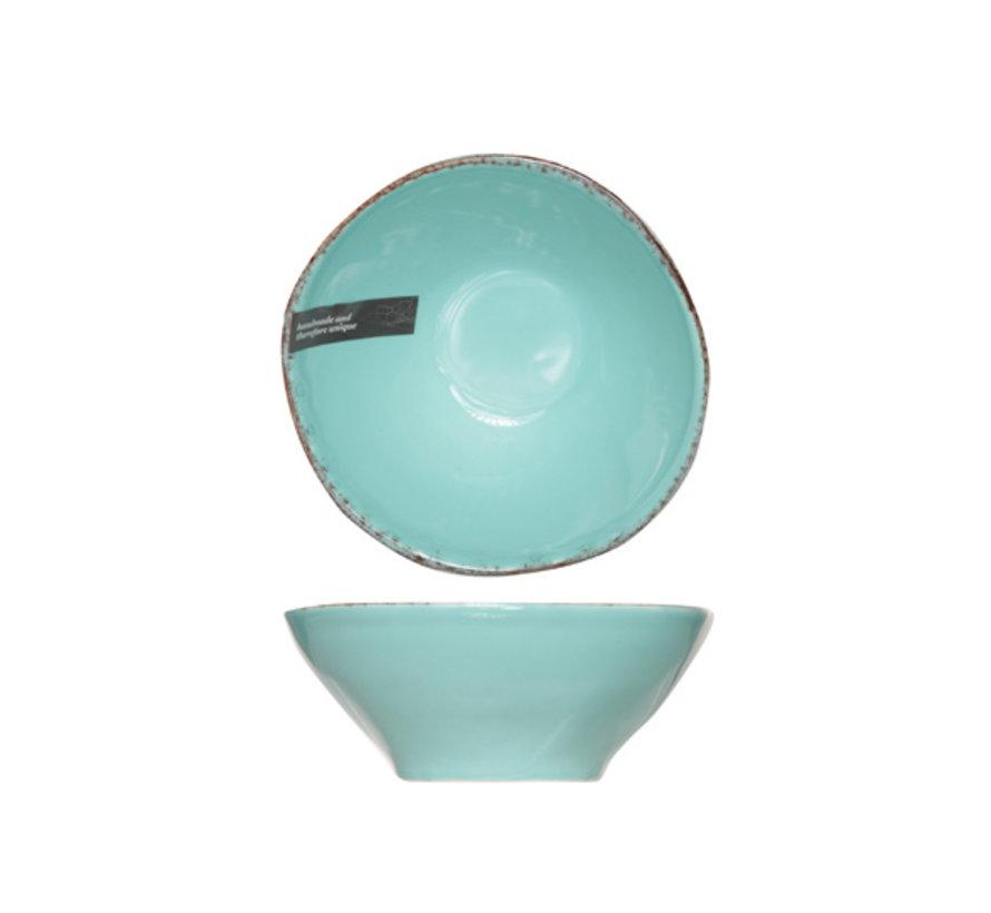 Cosy & Trendy Organic line blauw bowl 15,5cm, 12 maal 1 stuk