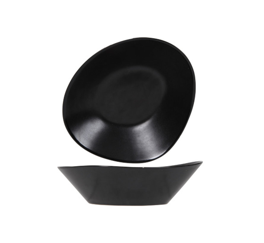 Cosy & Trendy Vongola slakom zwart 20,3x17xh6,4cm, 4 maal 1 stuk
