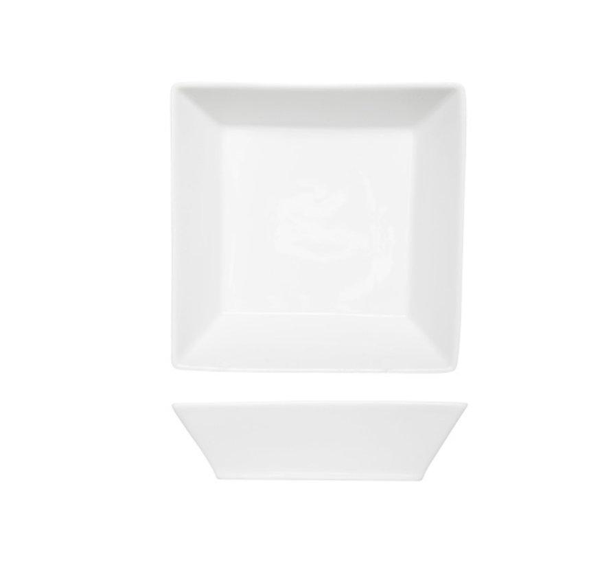 Cosy & Trendy Napoli witte diep bord 17,5x17,5cm vierk, 6 maal 1 stuk