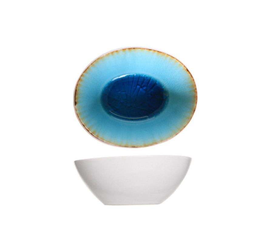 Cosy & Trendy Laguna azzurro schaal 10,5x9xh4cm, 12 maal 1 stuk