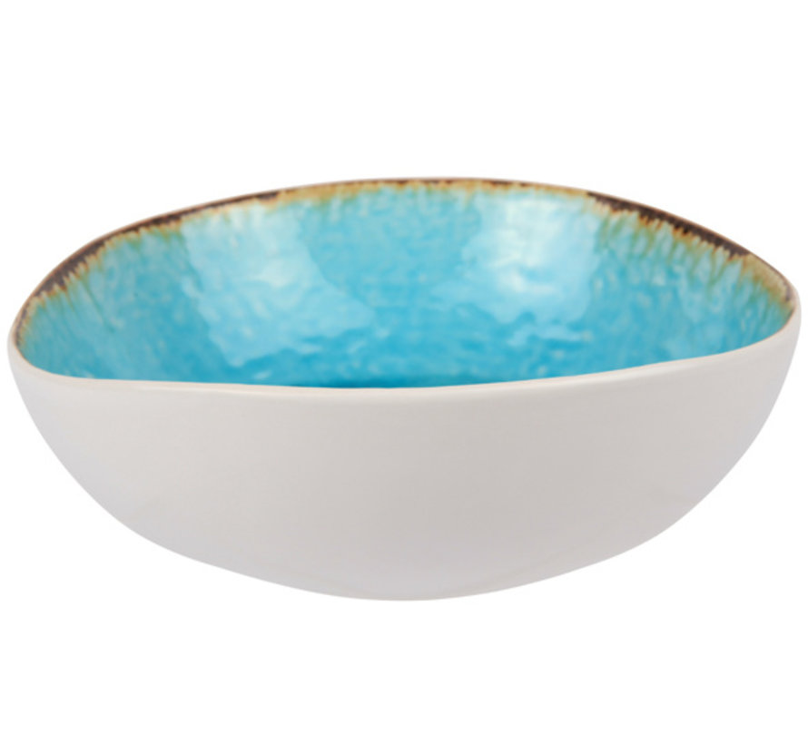 Cosy & Trendy Laguna azzurro slakom d19x17,5xh6cm, 6 maal 1 stuk