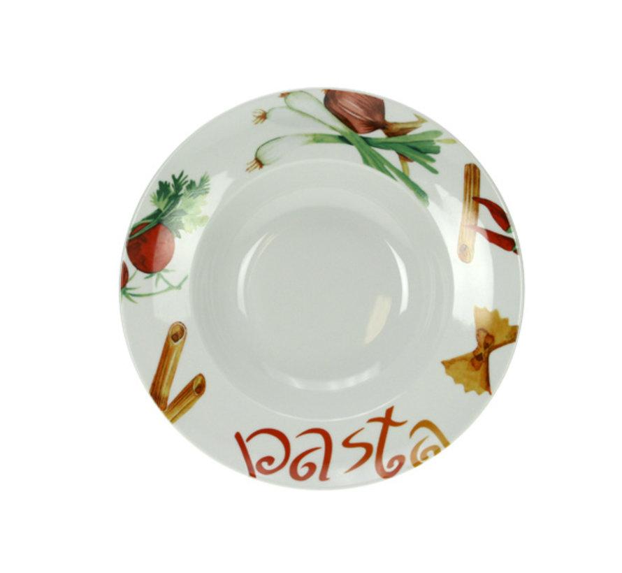 Cosy & Trendy Pastabord d16,5-26,8xh6cm deco pasta, 6 maal 1 stuk