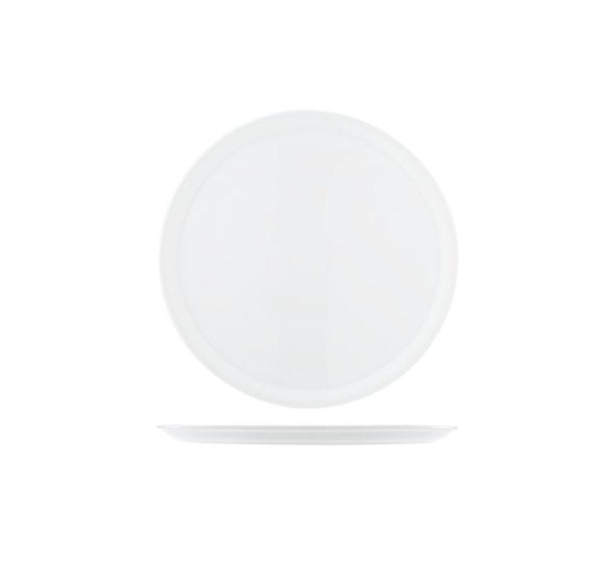 Cosy & Trendy Saturnia pizzabord 33cm wit, 6 maal 1 stuk