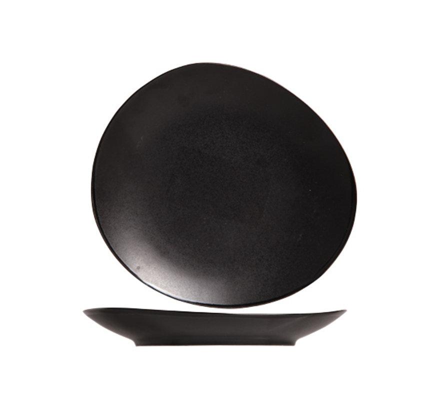 Cosy & Trendy Vongola broodbordje zwart 15,2cm, 6 maal 1 stuk