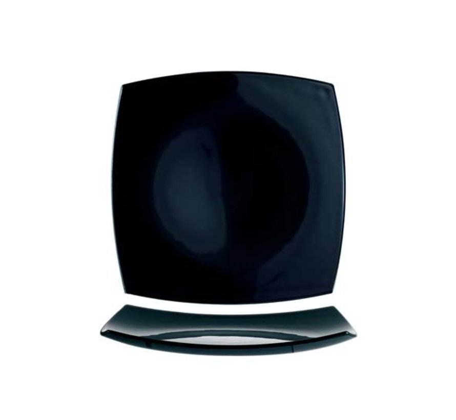 Arcoroc Delice dessert bord zwart 19 cm**, 6 maal 1 stuk