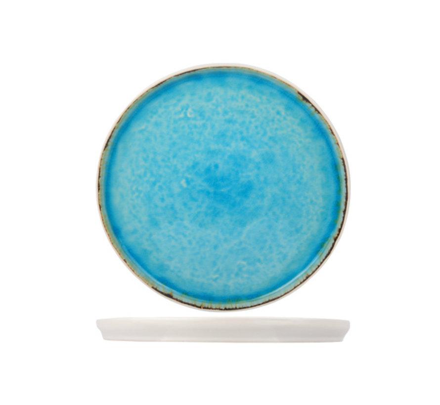 Cosy & Trendy Laguna azzurro dessertbord 21,5cm rond, 6 maal 1 stuk