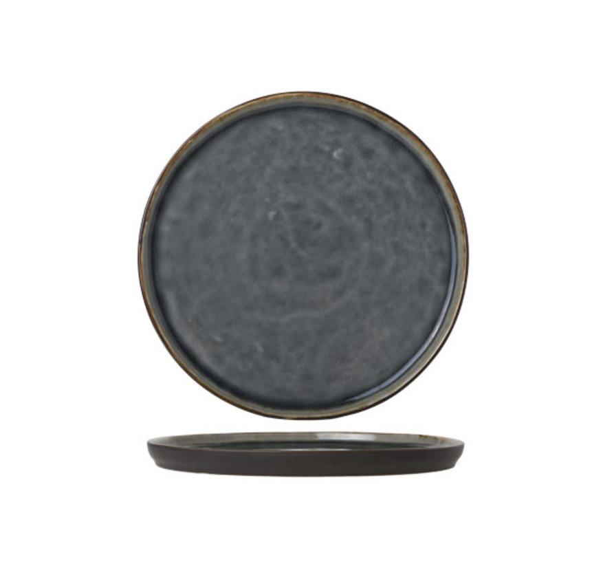 Cosy & Trendy Laguna blue-grey dessertbord 21,5cm rond, 6 maal 1 stuk